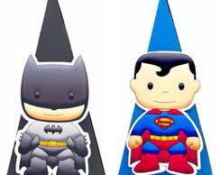 Cone Quadrado - Batman e Super Man