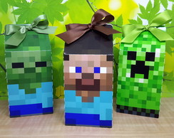 Caixa Milk Personagem MineCraft