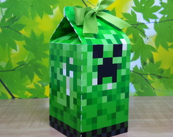 Caixa Milk MineCraft Creeper