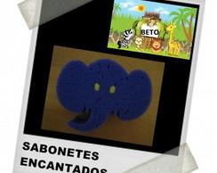 Esponja Safari elefante + tag virtual