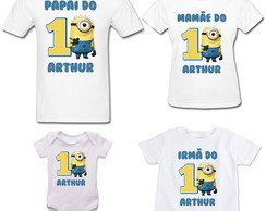 Kit 3 Camisetas + Body Minions Festa