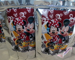 Saquinhos Metalizados Mickey e Minnie