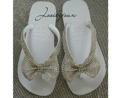 Havaianas Top Decoradas Laço Strass