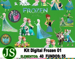 Kit Digital Scrapbook Frozen 01