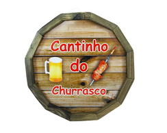 Tampa Barril MDF Cantinho do Churrasco
