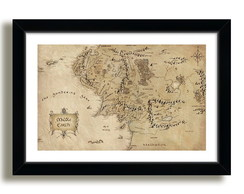 Quadro Terra Media 70x50cm Filme Hobbit