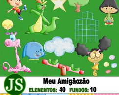Kit Digital Scrapbook Meu Amigãozão