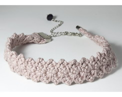 Choker Crochê Rose