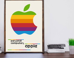 Quadro Apple Retro Vintage c Moldura A3