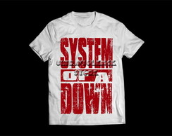 Camiseta Masculina System Of a Down SOAD