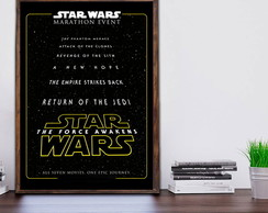 Quadro Decorativo Star Wars c Moldura A3