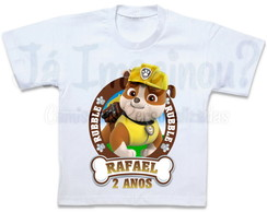 Camiseta Rubble Patrulha Canina