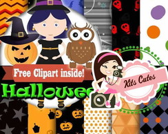 Kit Digital Papéis Halloween 03