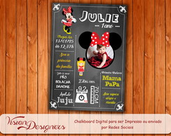 Chalkboard Digital - Minnie Vermelha