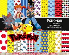 c766af47a9 ... Kit Digital Papéis Pokemon