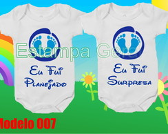 Kit Body Gêmeos Personalizados c/2