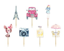 Topper Cupcake Paris