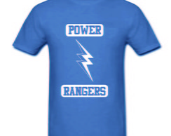 Camiseta Infantil Power Rangers 100% Alg