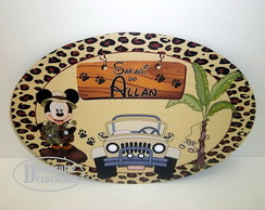 PLACA PERSONALIZADA MICKEY SAFARI 40X27