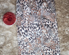 Saia longa envelope animal print