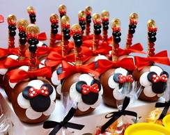 Palito decorado mickey e minnie