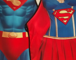 Avental Divertido Superman e Supergirl