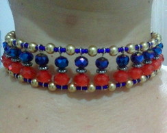 Choker colorida