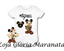 Body Bebe Personalizado Mickey Safaris