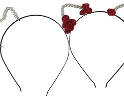 Conjunto de Tiaras Fashion Girl Vermelha