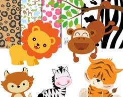 Kit Scrapbook Digital Safari