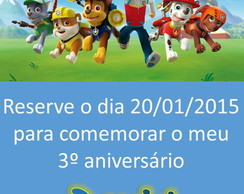 Save the Date Infantil - Arte Digital