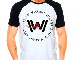 Camiseta Westworld Violent Ends Raglan