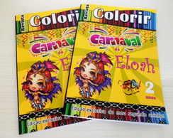 Revista colorir carnaval