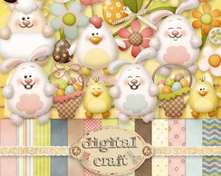 Kit Scrapbook Digital - Páscoa VI
