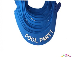 "Viseira com Escrito ""POOL PARTY"""