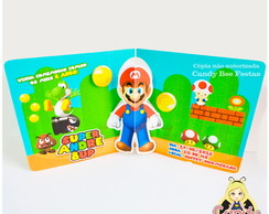 Convite Pop Up 3D Mario Bros