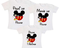 Kit 3 Camiseta Mickey Mouse Aniversario