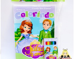 Kit Colorir Princesinha Sofia
