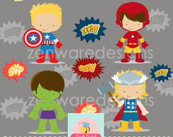 Kit digital vingadores baby