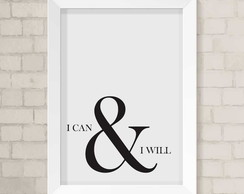 Quadro A4 - I can & I will