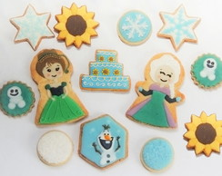 Kit Biscoitos decorados Frozen Fever - 13 un.