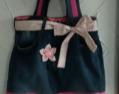 Bolsa Jeans com Patch Aplique