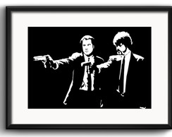 Quadro Pulp Fiction Minimalista Filme com Paspatur