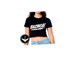 Blusa Top Cropped Bazinga