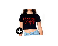 Blusa Top Cropped Cannibal Corpse