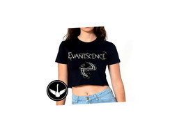 Blusa Top Cropped Evanescence
