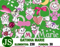 Kit Digital Scrapbook Gatinha Marie