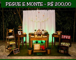 Kit rústico - Pegue e monte