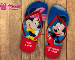 CHINELO PERSONALIZADO - MICKEY E MINNIE