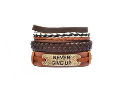 1Mix de Pulseiras Never Give Up